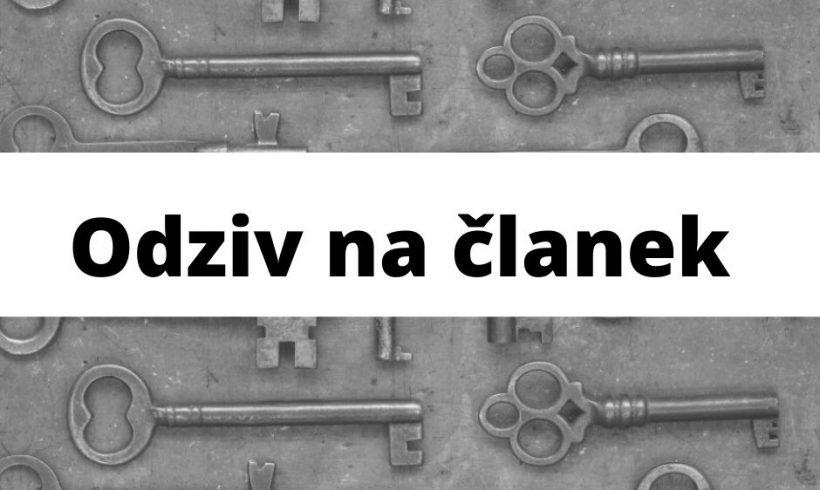 Odziv na članek avtorja Igorja Vuksanovića v Pravni praksi